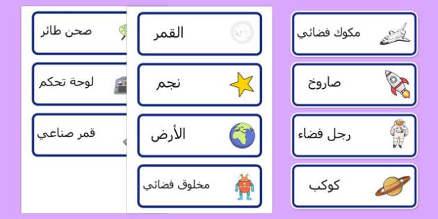 بطاقات كلمات سفينة الفضاء - الفضاء، وسائل تعليمية، موارد تعليمية