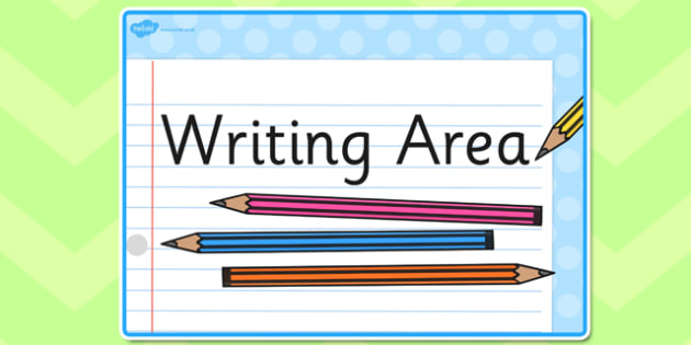 Writing Area Display Sign - writing area, writing area poster, writing area display, writing display poster, display posters, writing, area
