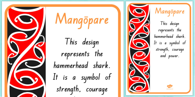 Mangopare Pattern A4 Display Poster