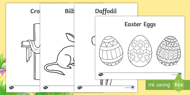 Easter Colouring Pages - easter, colour, religion, christianity