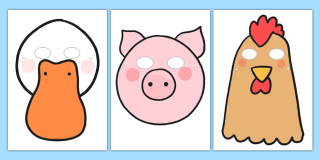 President Duck Character Masks - duck for president, president duck, doreen, cronin, character masks