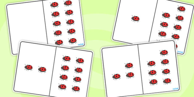 Ladybird Counting Number Bonds to 10 - number, bonds, counting