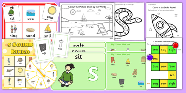 Word Initial S Pack - word, initial s, pack, sound, s sound, s, initial, sen