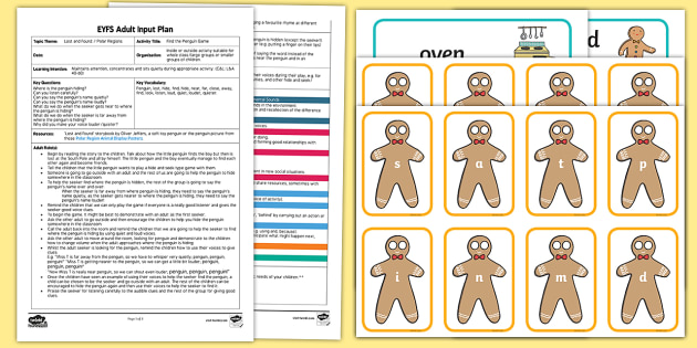Gingerbread Man Word Building Adult Input Plan and Resource Pack - EYFS, Early Years Planning, adult led, The Gingerbread Man, Traditional Tales, phonics, word buildin