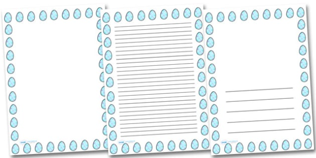 Star Easter Egg Portrait Page Borders- Portrait Page Borders - Page border, border, writing template, writing aid, writing frame, a4 border, template, templates, landscape