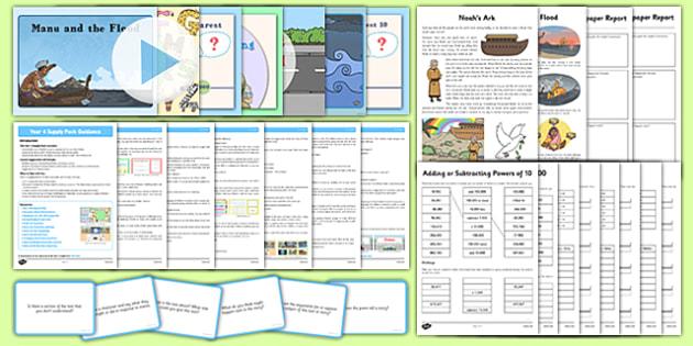 KS2 Year 4 Supply Pack - ks2, year 4, supply, pack, resources, supply teacher