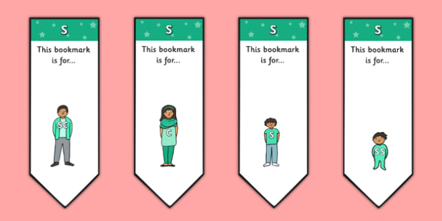 s Sound Family Editable Bookmarks - s sound family, editable bookmarks, bookmarks, editable, behaviour management, classroom management, rewards, awards