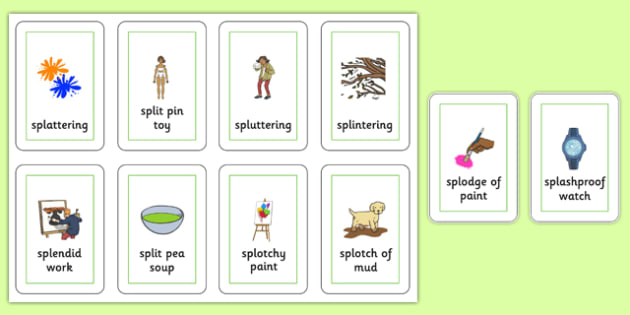 Three Syllable SPL Playing Cards - speech sounds, phonology, articulation, speech therapy, cluster reduction, complex clusters, three element clusters