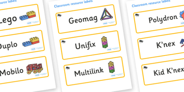 Beetle Themed Editable Construction Area Resource Labels - Themed Construction resource labels, Label template, Resource Label, Name Labels, Editable Labels, Drawer Labels, KS1 Labels, Foundation Labels, Foundation Stage Labels