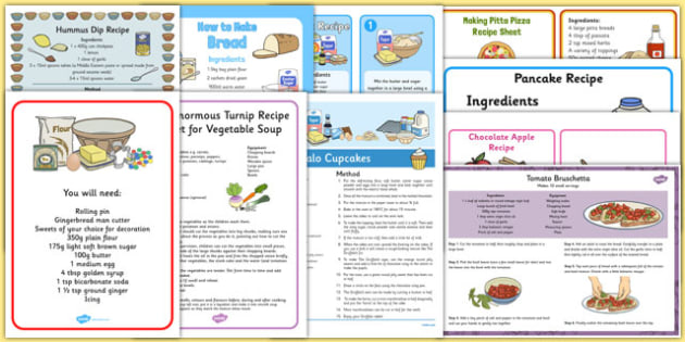 Childminder Recipe Pack - childminder, recipe, pack, childminder recipes