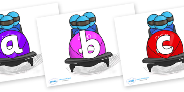 Phoneme Set on Bobsleigh - Phoneme set, phonemes, phoneme, Letters and Sounds, DfES, display, Phase 1, Phase 2, Phase 3, Phase 5, Foundation, Literacy