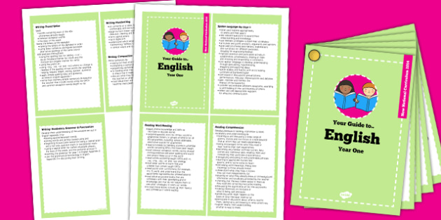 2014 Curriculum Cards Year 1 English - new curriculum, literacy