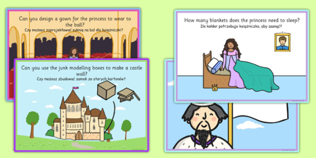 Challenge Cards Fairy Tale Castle Polish Translation - polish, challenge cards, fairy tale castle