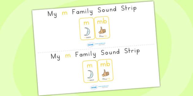 My m Family Sound Strip - sound, sound production, sound strip
