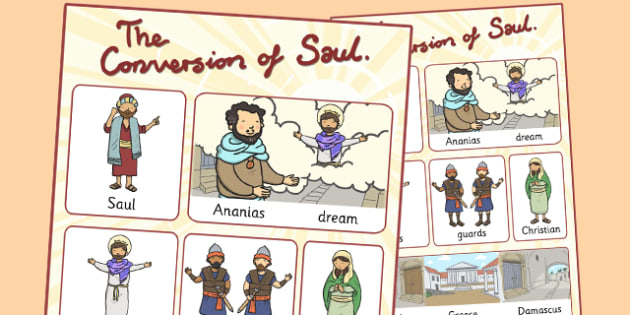 The Conversion of Saul Vocabulary Poster - posters, displays, road to damascus