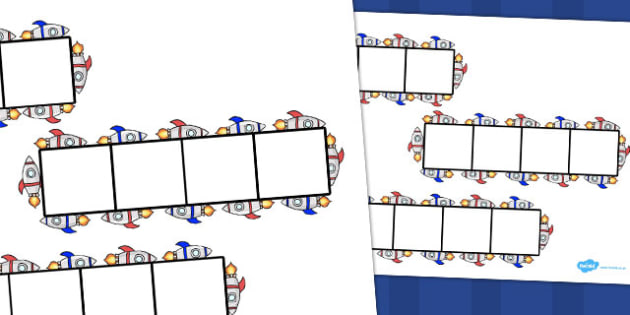 Rocket Phoneme Frames - Phoneme Frames printable, space, rocket, phoneme frame, phoneme, phonemes, Segmenting, DfES Letters and Sounds, Letters and sounds, KS1 Literacy, Phase one, Phase 1, Phase two, Phase 2, Phase three, Phase 3
