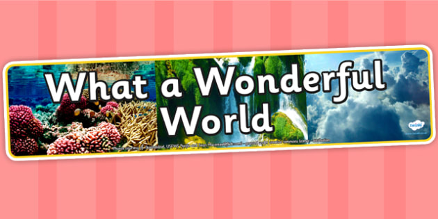 What a Wonderful World Photo Display Banner - what a wonderful world, IPC display banner, IPC, wonderful world display banner, IPC display