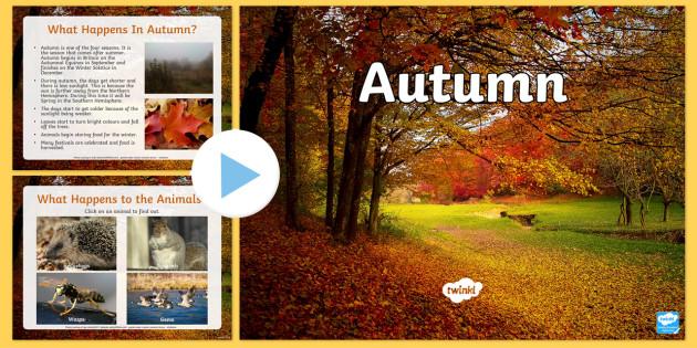 Autumn PowerPoint - seasons, weather, teaching aid, autumn