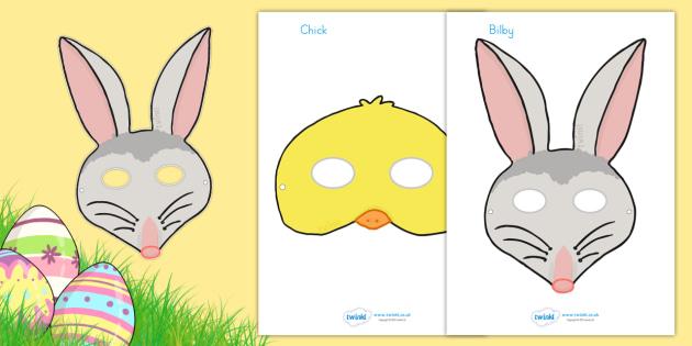 Easter Role Play Masks - easter, easter role play, prop, religion