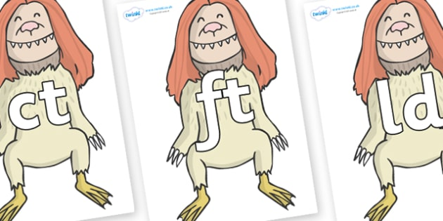 Final Letter Blends on Wild Thing (2) to Support Teaching on Where the Wild Things Are - Final Letters, final letter, letter blend, letter blends, consonant, consonants, digraph, trigraph, literacy, alphabet, letters, foundation stage literacy
