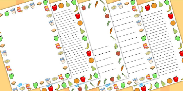 National School Meals Week Page Borders - page, borders, meals