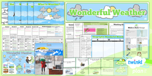 Geography: Wonderful Weather Year 1 Unit Pack