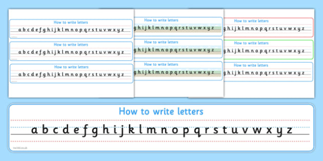How to Write Letters Alphabet Strips Sassoon - alphabet, strips