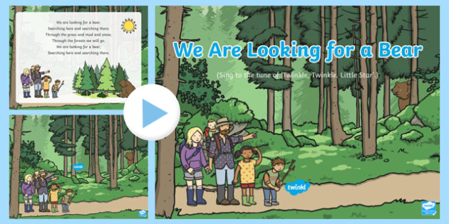 We Are Looking for a Bear Song PowerPoint