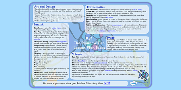 Lesson Plan Ideas KS1 to Support Teaching on The Rainbow Fish - the rainbow fish, the rainbow fish lesson plan, the rainbow fish lesson ideas, mtp, lesson plan, lesson ideas, ks1
