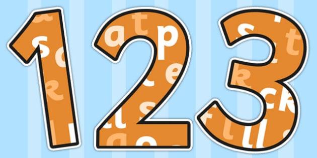 Phase 2 Themed A4 Display Numbers - number, displays, display