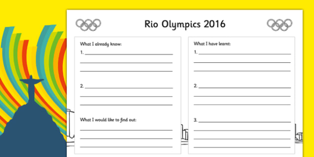 Rio Olympics 2016 Write Up Activity Sheet - rio olympics, 2016 olympics, rio 2016, write up, activity, worksheet