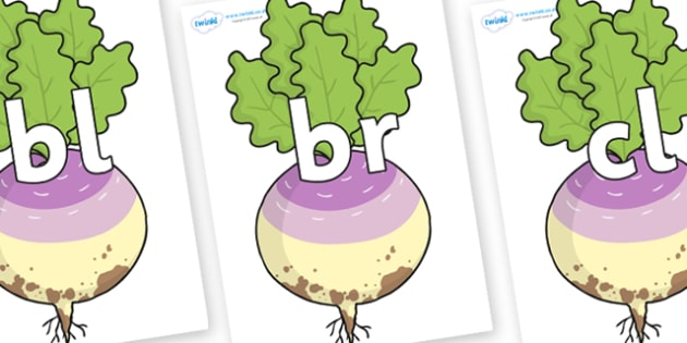 Initial Letter Blends on Enormous Turnip - Initial Letters, initial letter, letter blend, letter blends, consonant, consonants, digraph, trigraph, literacy, alphabet, letters, foundation stage literacy