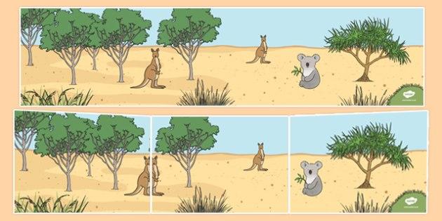 Bush Habitat Small World Background - australia, Science, Year 1, Habitats, Australian Curriculum, Bush, Living, Living Adventure, Environment, Living Things, Animals, Small World