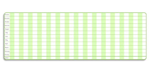 Class Monthly Height Chart - Height chart, class, child, monthly, weekly, height display, measuring chart, measure, child height, flower chart, flower display, tall, short