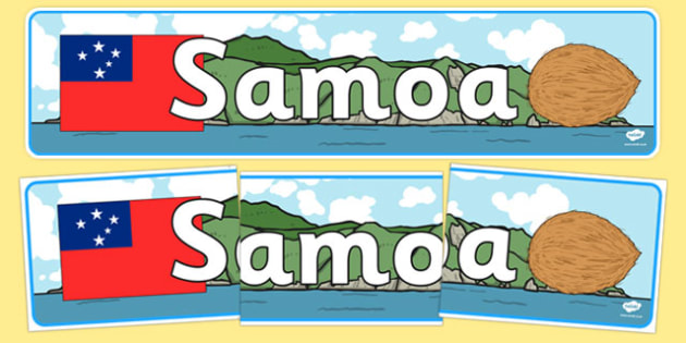 Samoa Display Banner - Samoa, Olympics, Olympic Games, sports, Olympic, London, 2012, display, banner, sign, poster, activity, Olympic torch, flag, countries, medal, Olympic Rings, mascots, flame, compete, events, tennis, athlete, swimming
