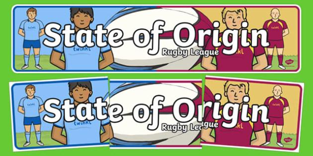 State of Origin Display Banner
