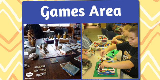 Games Area Photo Sign - games, area, photo, sign, display sign