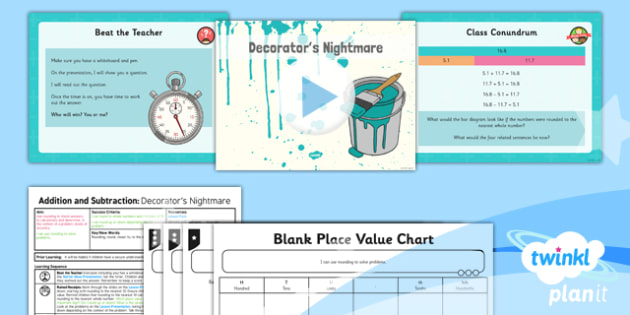 PlanIt Y5 Addition and Subtraction Lesson Pack Rounding (2) - rounding, rounding, nearest to, closest to, differentiated, context, problem solving