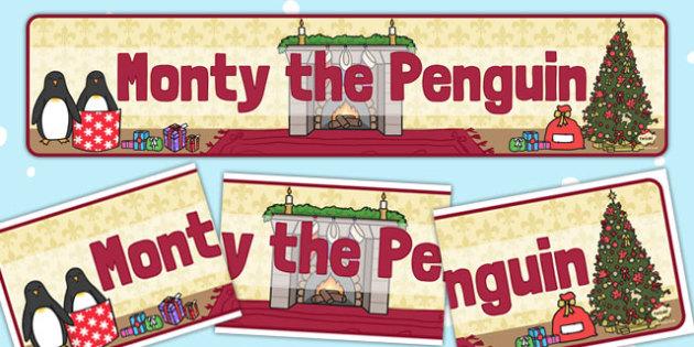 Monty the Penguin Display Banner - monty, penguin, display banner