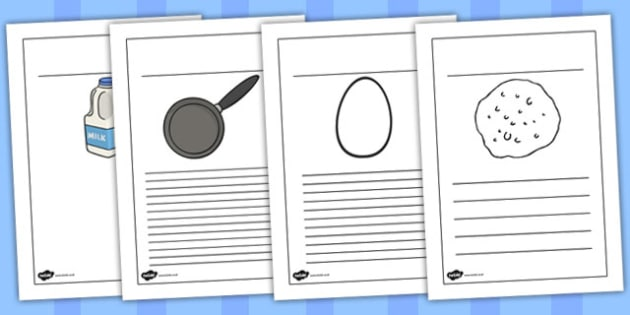Pancake Recipe Writing Frames - australia, pancake, recipe, frame