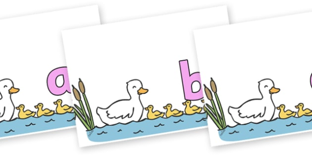 Phoneme Set on Five Little Ducks - Phoneme set, phonemes, phoneme, Letters and Sounds, DfES, display, Phase 1, Phase 2, Phase 3, Phase 5, Foundation, Literacy