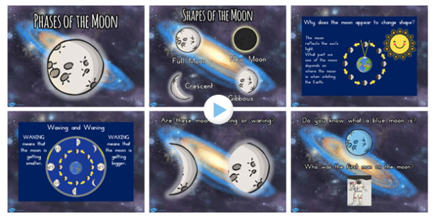 Phases of the Moon PowerPoint - australia, moon, phases, night
