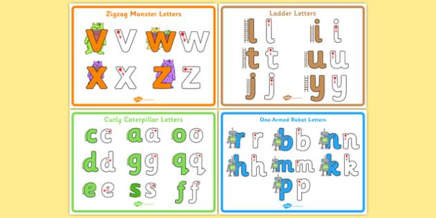 Letter Formation Poster Pack - letter formation, display poster, display, poster, letter, formation, pack