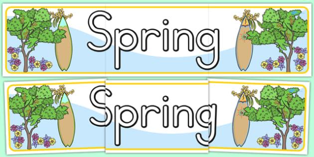 Spring Display Banner - seasons, weather, header, display banner