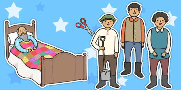 The Farmer and His Sons Story Cut Outs - aesops fables, stories