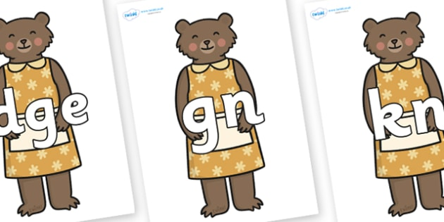 Silent Letters on Mummy Bear - Silent Letters, silent letter, letter blend, consonant, consonants, digraph, trigraph, A-Z letters, literacy, alphabet, letters, alternative sounds