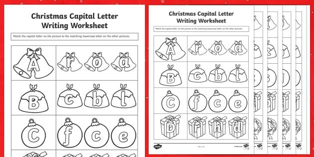 Themed Capital Letter Matching Worksheet worksheets – Capital Letter Worksheets