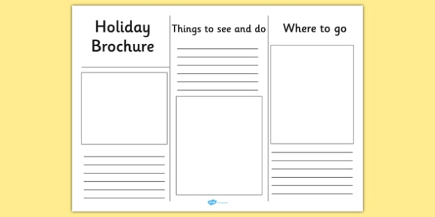 Holiday Brochure Template - Holiday, Brochure, Template