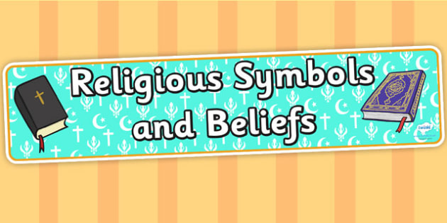 Religious Symbols and Beliefs Display Banner - header, display