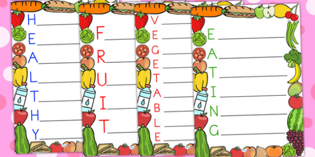 Healthy Acrostic Poems - healthy eating, health, poetry, poems